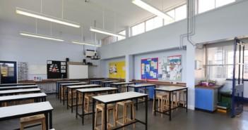 Classroom painted using Leyland Trade