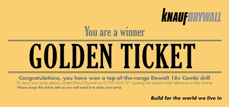 win a dewalt 300 drill with knauf painting and decorating news. Black Bedroom Furniture Sets. Home Design Ideas