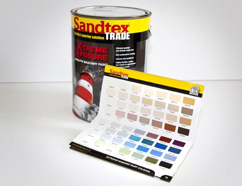 Sandtex colour swatches