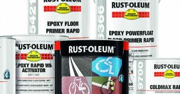 Rapid curing floor coatings Rust Oleum