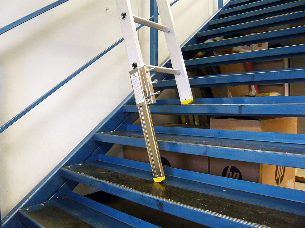 Ladder Used To Paint Stairwell