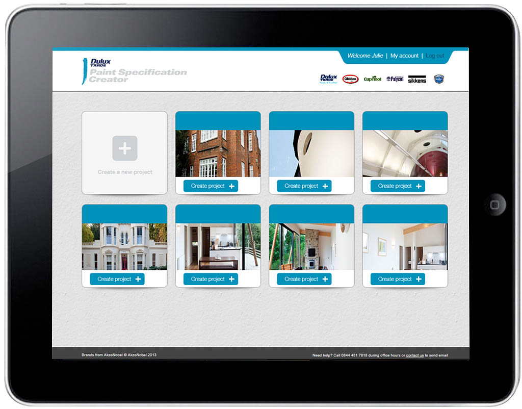 Dulux Paint Specification Creator online tool