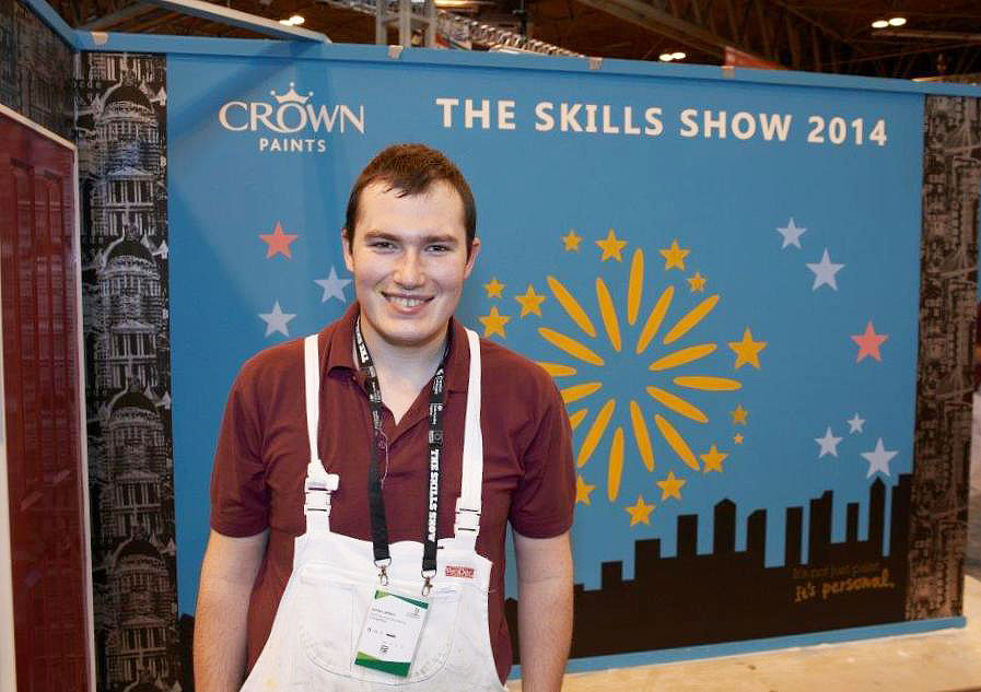 jordan jeffers crown trade apprentice decorator of the year