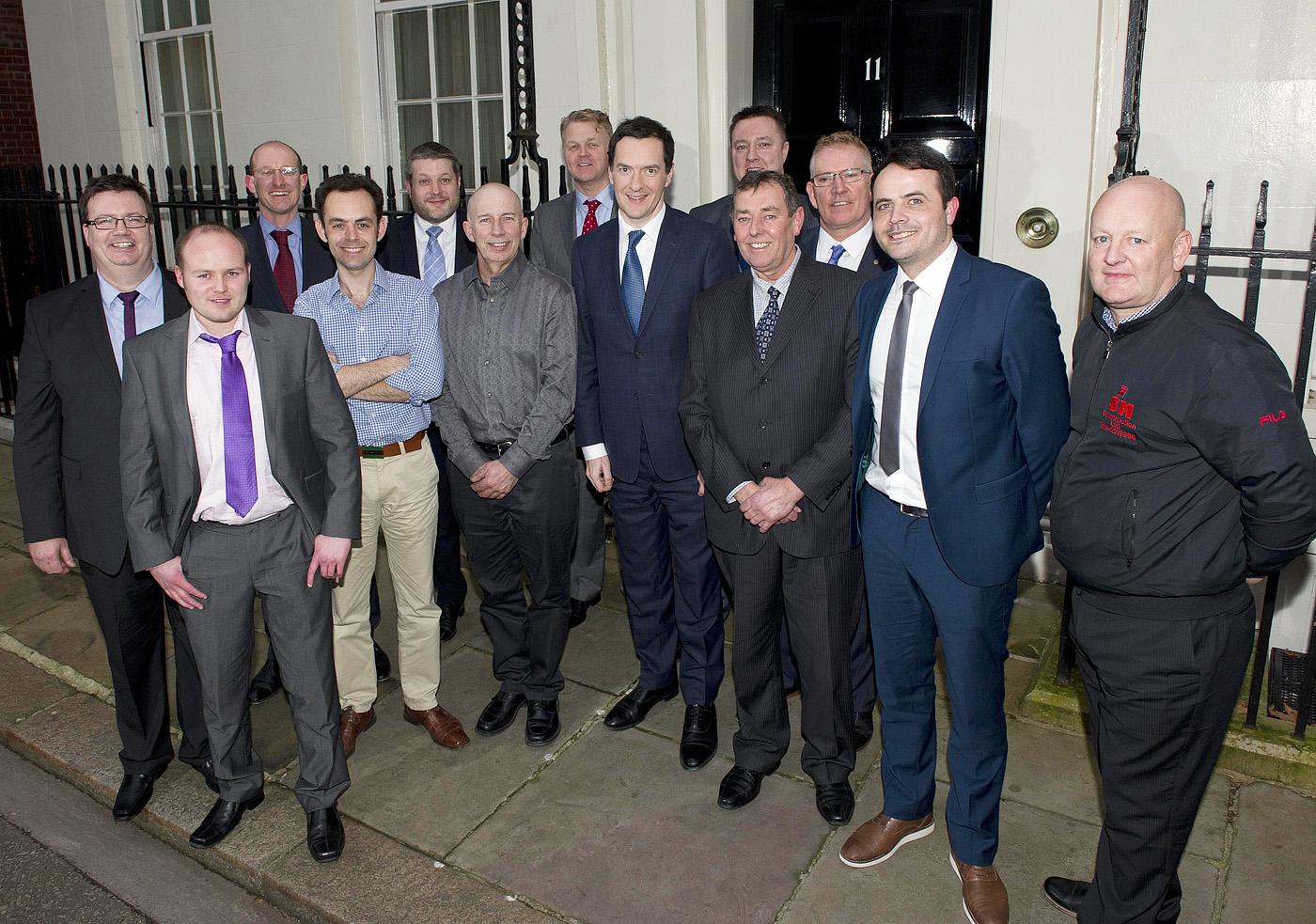 Screwfix Britains Top Tradesmen finalists visit No 11