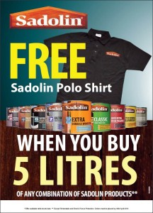 Free Sadolin Polo Shirt