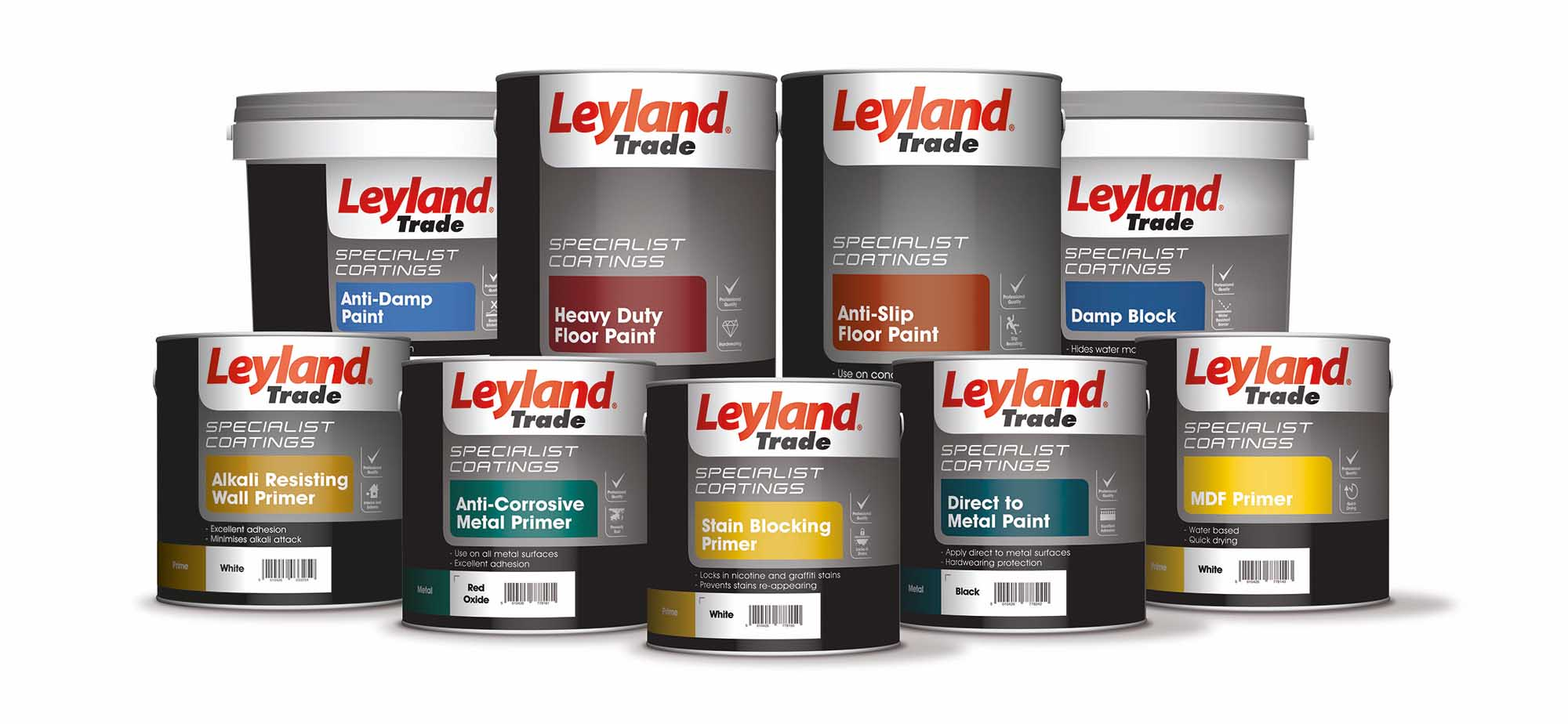 Leyland Heavy Duty Floor Paint Colours