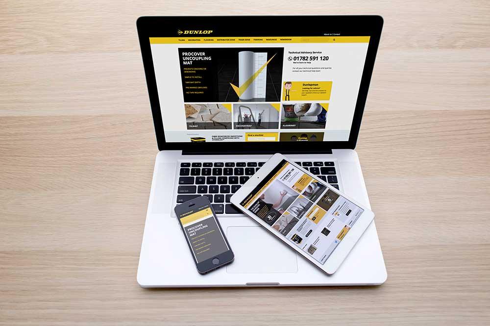 New Dunlop website