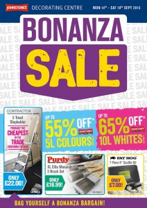 Johnstonecorating Centres Bonanza Sale Sept 2015