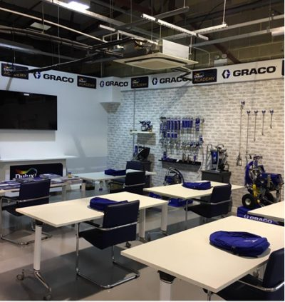 Dulux Academy partners with Graco in new spray theatre 1
