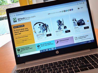Major upgrade for QTech Spray website 1